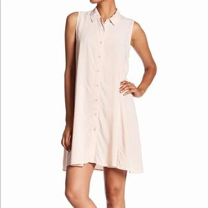 Blush Pink NWT Button Up Dress